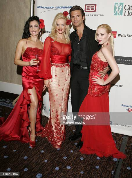 Birgit Muller model with Barbara Moore Lorenzo Lamas and Adrienne Frantz