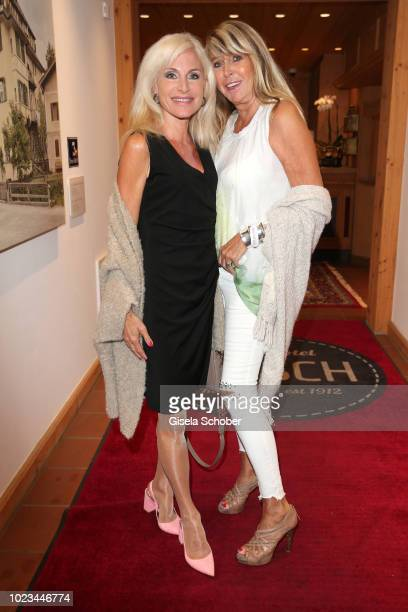 Birgit Muth and Claudia Carpendale during the closing ceremony of the Kitzbuehel Film Festival at Hotel Reisch on August 25 2018 in Kitzbuehel Austria