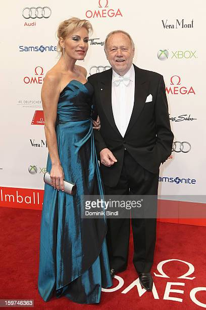 Birgit Muth and Joseph Vilsmaier attend the Germany Filmball 2013 at Hotel Bayerischer Hof on January 19 2013 in Munich Germany