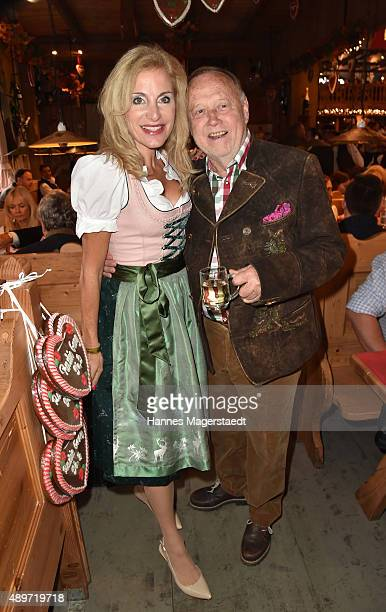Birgit Muth and Joseph Vilsmaier attend the Radio Gong 963 Wiesn at Weinzelt during the Oktoberfest 2015 on September 23 2015 in Munich Germany