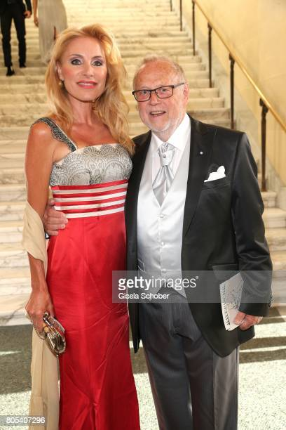 Birgit Muth and Joseph Vilsmaier during the opening of the opera festival and premiere of 'Die Gezeichneten' at Nationaltheater on July 1 2017 in...