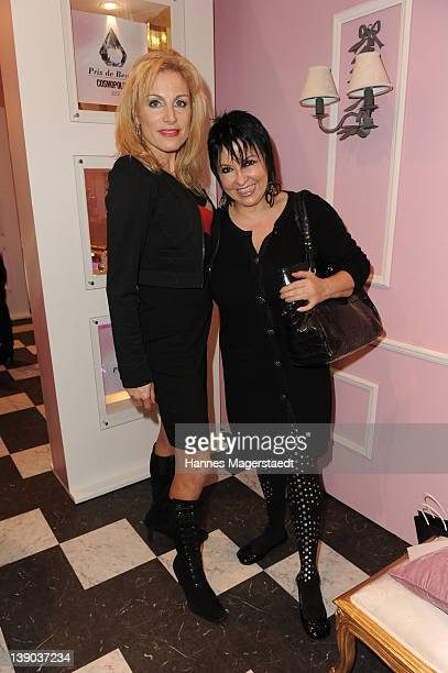 Birgit Muth and Uschi Ackermann attend the Prix Beaute Cocktail at the Oberpollinger department store on February 15 2012 in Munich Germany