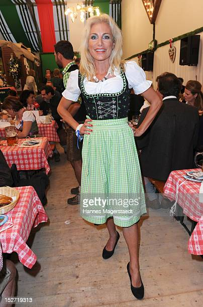 Birgit Muth attends the 'BMW Wiesn' as part of the Oktoberfest beer festival at the Armbrustschuetzen beer tent on September 24 2012 in Munich Germany