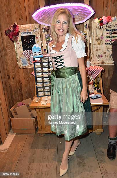 Birgit Muth attends the Radio Gong 963 Wiesn at Weinzelt during the Oktoberfest 2015 on September 23 2015 in Munich Germany