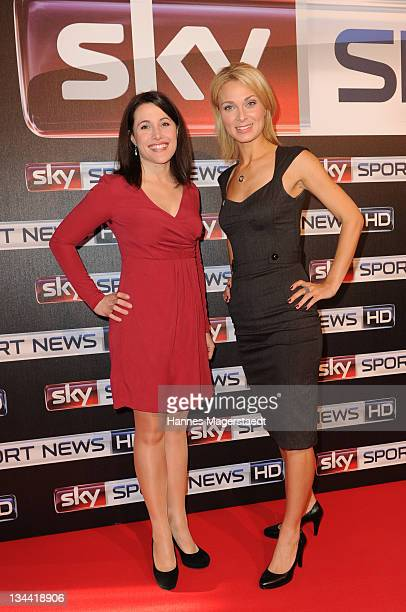 Birgit Noessing and Britta Hofmann attend the Sky Sports News HD Stations Start at the SKY head office on December 01 2011 in Munich Germany