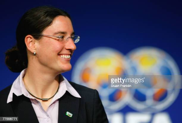 Birgit Prinz, German national team player, during the FIFA Executive Committee announcement for the host venue of the FIFA Womens World Cup 2011, at...