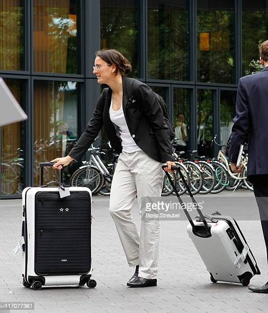 Birgit Prinz of the German Woman's National Football Team arrives at Hotel Esplanade on June 21 2011 in Berlin Germany