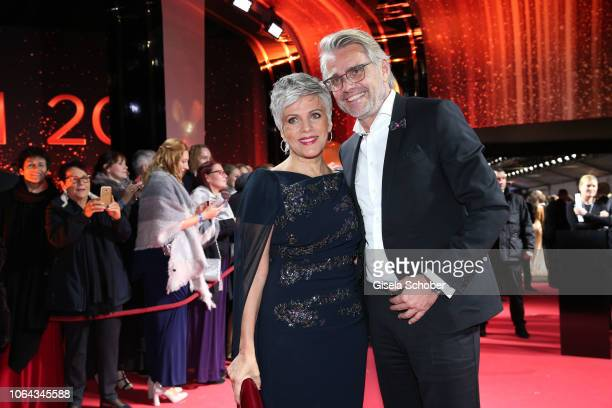 Birgit Schrowange and her boyfriend Frank Spothelfer during the Bambi Awards 2018 Arrivals at Stage Theater on November 16 2018 in Berlin Germany