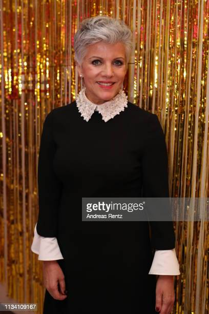 Birgit Schrowange attends the Gloria Deutscher Kosmetikpreis at Hilton Hotel on March 30 2019 in Duesseldorf Germany