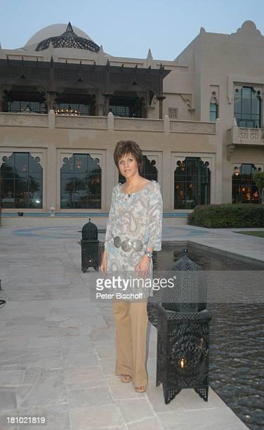 Birgit Schrowange Hotel Royal Mirage arabisches Ambiente Dreharbeiten zur RTLLifestyleShow Life Die Lust zu leben Dubai Vereinigte Arabische Emirate...