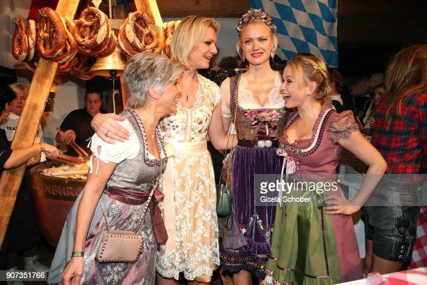 Birgit Schrowange Maria HoeflRiesch Franziska Knuppe Nova Meierhenrich during the 27th Weisswurstparty at Hotel Stanglwirt on January 19 2018 in...