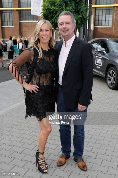 Birgit von Bentzel and her husband Oliver Christians attend the 'Cabo by Milka' after party during Platform Fashion July 2017 at Areal Boehler on...