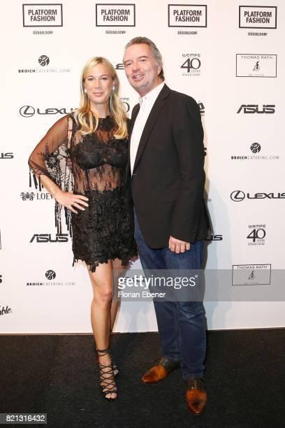 Birgit von Bentzel and her husband Oliver Christians attend the Thomas Rath show during Platform Fashion July 2017 at Areal Boehler on July 23, 2017...