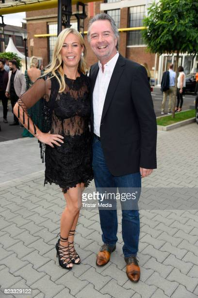 Birgit von Bentzel and her husband Oliver Christians attend the Thomas Rath show during Platform Fashion July 2017 at Areal Boehler on July 23 2017...
