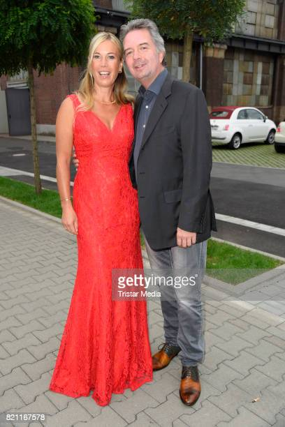 Birgit von Bentzel and her husband Oliver Christians attend the Unique show during Platform Fashion July 2017 at Areal Boehler on July 22, 2017 in...