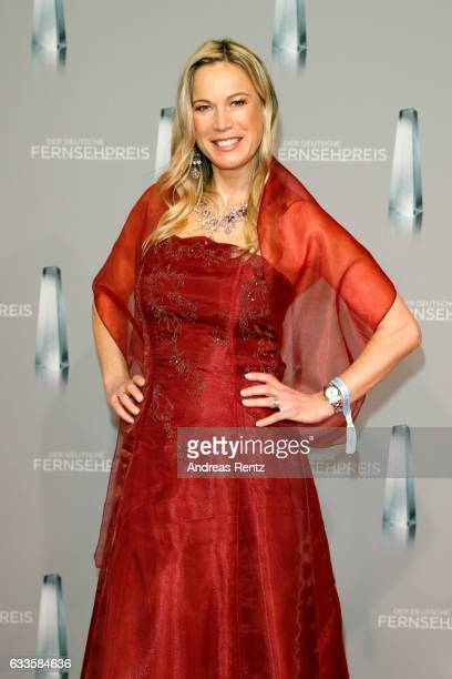 Birgit von Bentzel attends the German Television Award at Rheinterrasse on February 2 2017 in Duesseldorf Germany