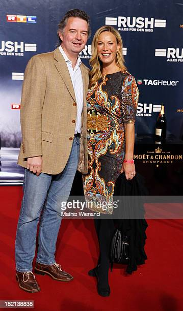 Birgit von Bentzel with husband attends the German premiere of the film 'Rush' at Cinedom on September 28, 2013 in Cologne, Germany.