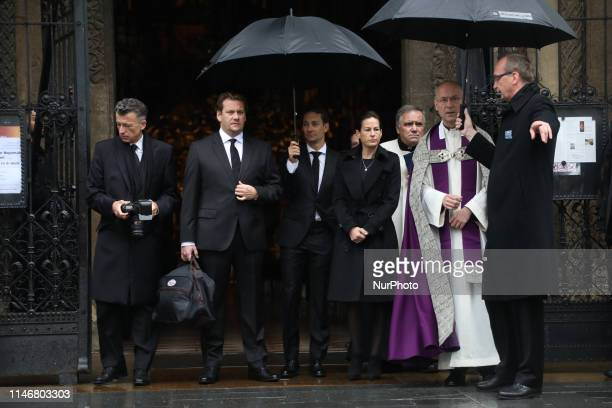 Birgit Wetzinger Niki Lauda's wife and his family during funeral ceremony at St Stephen's cathedral Vienna Austria on 29 May 2019 Threetime F1...