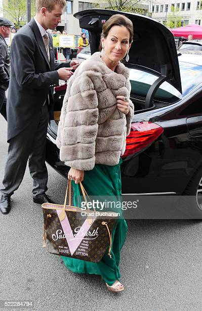 Birgit Wetzinger sighted at the Adlon Hotel on April 18 2016 in Berlin Germany