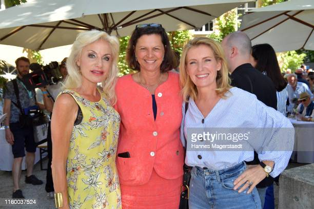 Birgith Muth, Ilse Aigner and Maria Furtwängler attend the Film Fernseh Fonds Bayern 2019 reception during the Munich Film Festival at Praterinsel on...