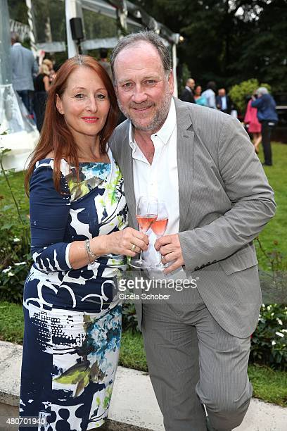 Birgitt Wolff and her partner Harold Faltermeyer during the 'Winning by Giving' charity by Hadassah Medical Center on July 14 2015 in Munich Germany