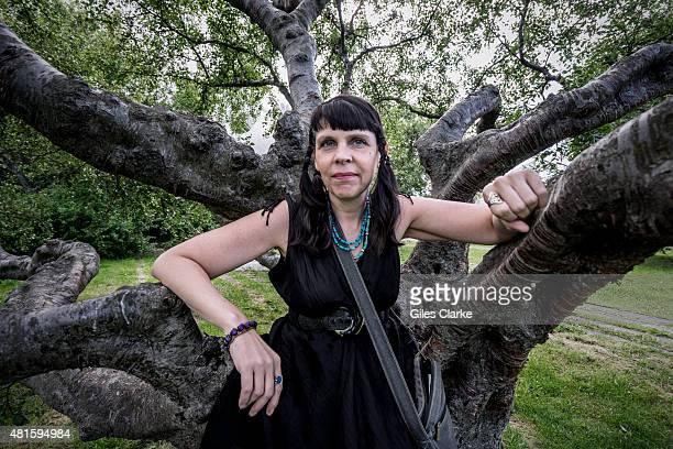 Birgitta Jónsdóttir stands for a portrait amongst the Ásmundur Sveinsson Sculpture Museum Jónsdóttir is a politician and an activist member of the...