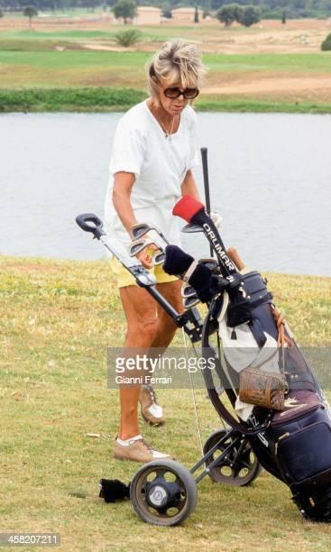 Birgitta of Sweden playing golf Madrid Spain 11th October 2001
