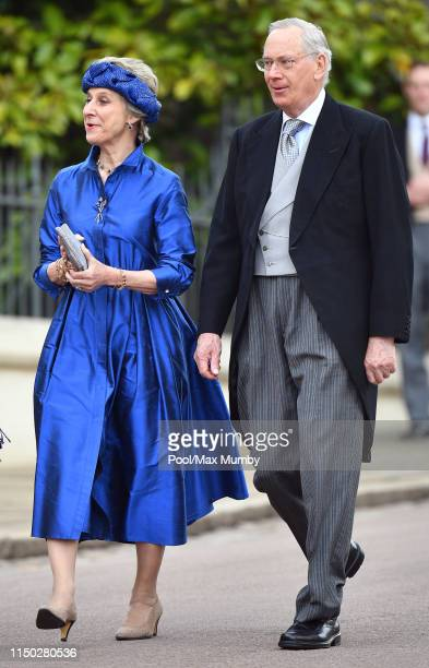 Birgitte, Duchess of Gloucester and Prince Richard, Duke of Gloucester attend the wedding of Lady Gabriella Windsor and Thomas Kingston at St...