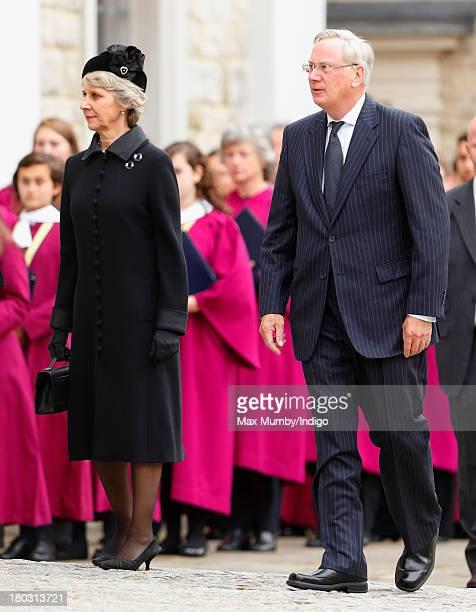 Birgitte Duchess of Gloucester and Prince Richard Duke of Gloucester attend a requiem mass for Hugh van Cutsem who passed away on September 2nd 2013...