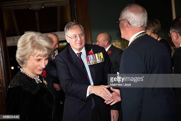 Birgitte Duchess of Gloucester and Prince Richard Duke of Gloucester arrive at the Royal Albert Hall on November 8 2014 in London England Members of...
