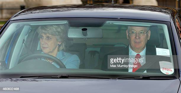 Birgitte, Duchess of Gloucester and Prince Richard, Duke of Gloucester attend a Christmas lunch for members of the Royal Family hosted by Queen...
