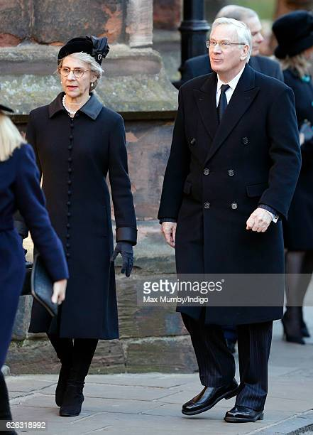 Birgitte Duchess of Gloucester and Prince Richard Duke of Gloucester attend a Memorial Service for Gerald Grosvenor 6th Duke of Westminster at...