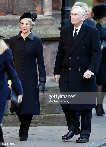 Birgitte, Duchess of Gloucester and Prince Richard, Duke of Gloucester attend a Memorial Service for Gerald Grosvenor, 6th Duke of Westminster at...
