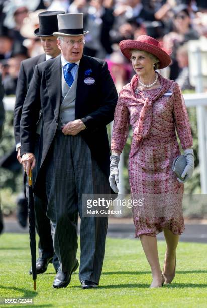 Birgitte Duchess of Gloucester and Prince Richard Duke of Gloucester attend Royal Ascot 2017 at Ascot Racecourse on June 21 2017 in Ascot England