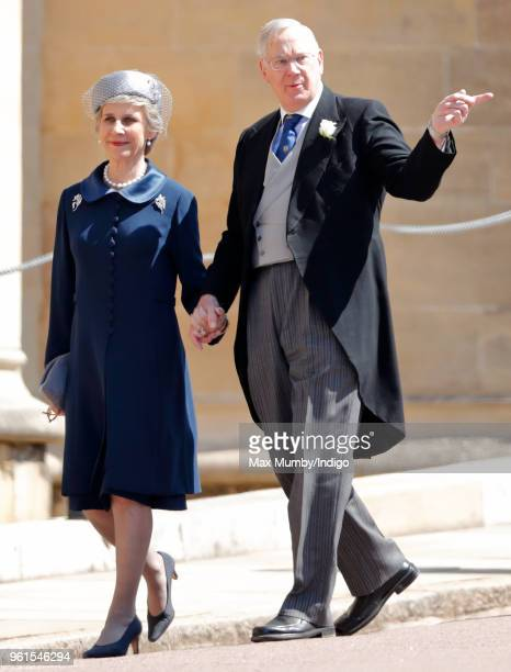 Birgitte, Duchess of Gloucester and Prince Richard, Duke of Gloucester attend the wedding of Prince Harry to Ms Meghan Markle at St George's Chapel,...