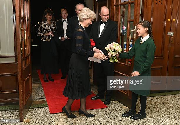 Birgitte Duchess of Gloucester and Viscount Crichton attend the House of Commons v House of Lords Speedo Charity Swim Gala Dinner at Porchester Hall...