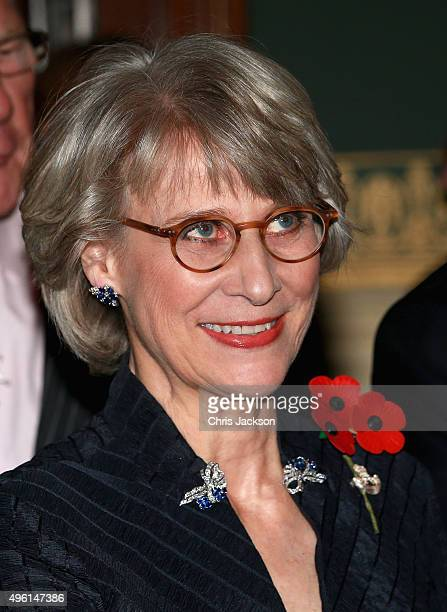 Birgitte Duchess of Gloucester arrives at the Royal Albert Hal for the Annual Festival of Remembrance on November 7 2015 in London England