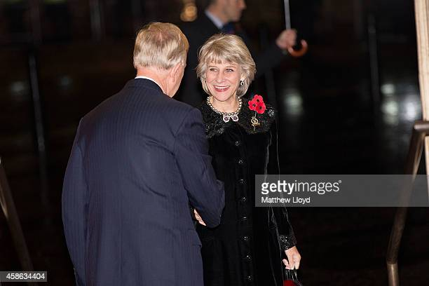 Birgitte Duchess of Gloucester arrives at the Royal Albert Hall on November 8 2014 in London England Members of the Royal Family are attending the...