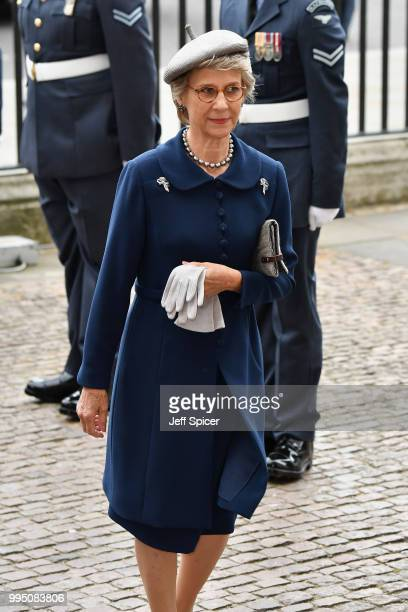 Birgitte Duchess of Gloucester attend as members of the Royal Family attend events to mark the centenary of the RAF on July 10 2018 in London England