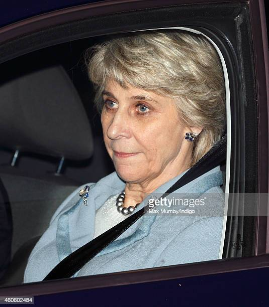Birgitte, Duchess of Gloucester attends a Christmas lunch for members of the Royal Family hosted by Queen Elizabeth II at Buckingham Palace on...