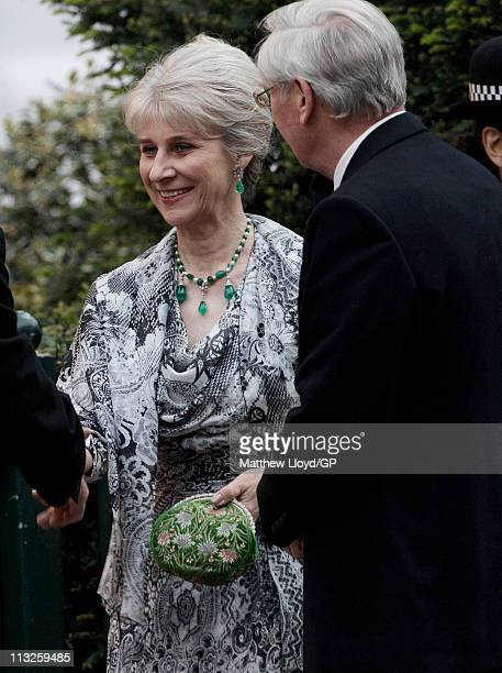 Birgitte Duchess of Gloucester attends a gala PreWedding dinner on the eve of the Royal Wedding of Prince William to Catherine Middleton on April 28...