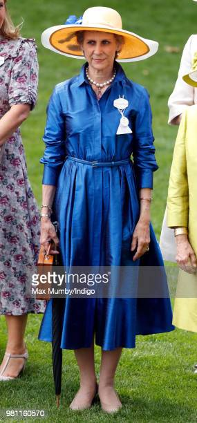 Birgitte Duchess of Gloucester attends day 2 of Royal Ascot at Ascot Racecourse on June 20 2018 in Ascot England