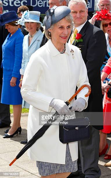 Birgitte Duchess of Gloucester attends Derby Day of the Investec Derby Festival at Epsom Racecourse on June 1 2013 in Epsom England