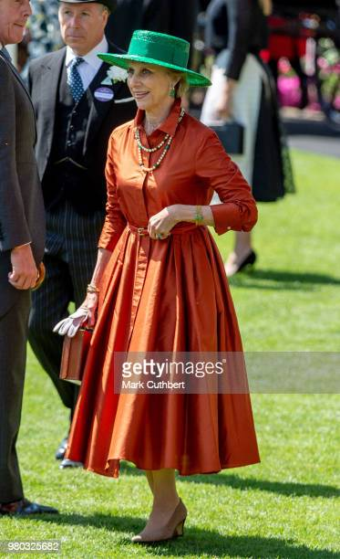Birgitte Duchess of Gloucester attends Royal Ascot Day 3 at Ascot Racecourse on June 21 2018 in Ascot United Kingdom