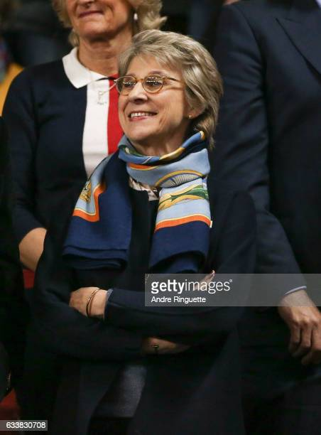 Birgitte, Duchess of Gloucester attends the doubles match on day two of the Davis Cup World Group match between Great Britain and Canada at TD Place...