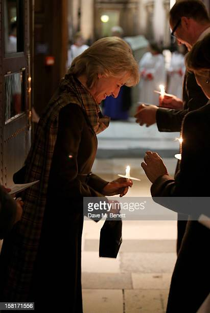 Birgitte Duchess of Gloucester attends the Missing People Carol Service at StMartinInTheFields Trafalgar Square on December 10 2012 in London England