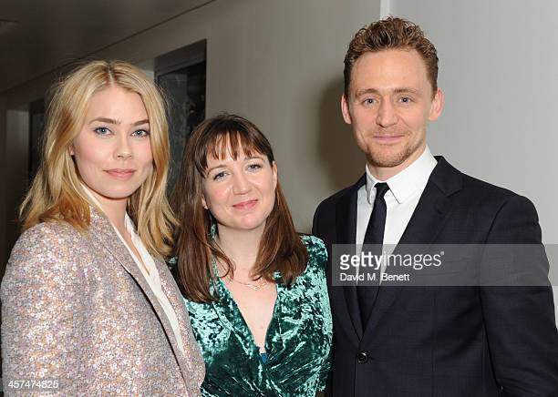 Birgitte Hjort Sorensen Josie Rourke and Tom Hiddleston attend the after party on the press night of Coriolanus at The Hospital Club on December 17...