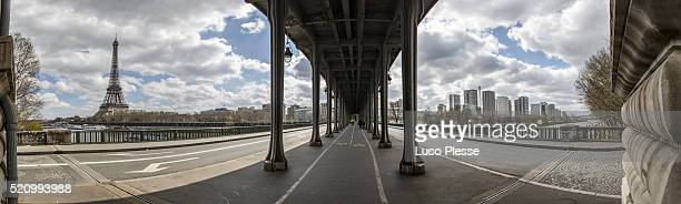 Bir-Hakeim Bridge - Paris -  Subway rails above