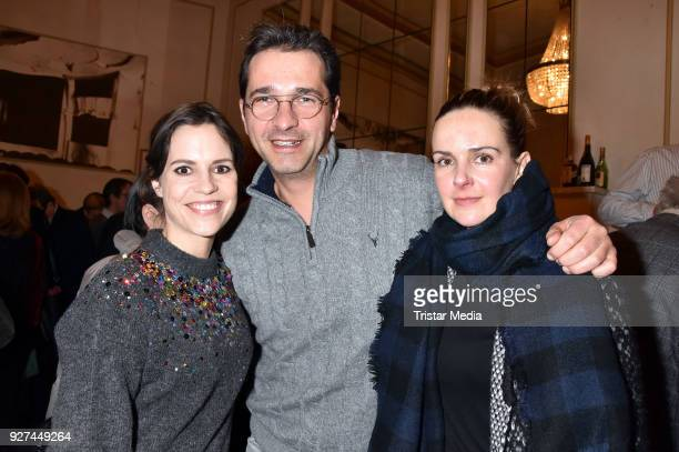 Birhte Wolter Andreas Elsholz and Denise Zich attend the 'Die Niere' premiere on March 4 2018 in Berlin Germany
