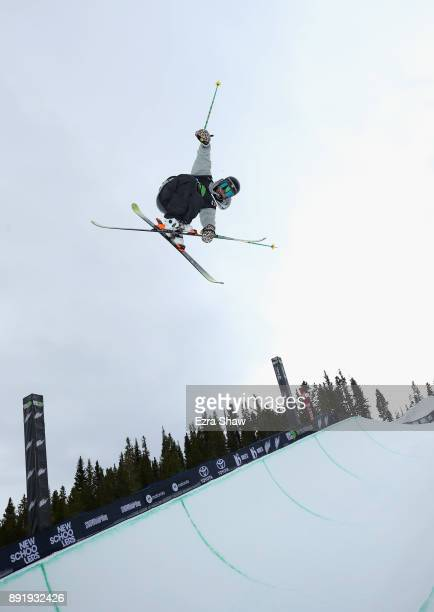Birk Irving competes in the Superpipe qualification during Day 1 of the Dew Tour on December 13 2017 in Breckenridge Colorado